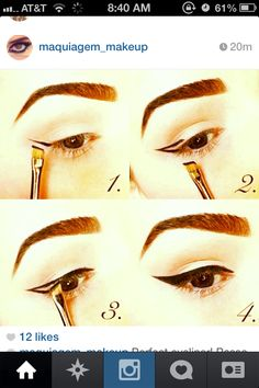 How do I create a perfect eyeliner? Let's agree that nothing enhances your eye make-up like a dramatic, perfectly drawn winged eyeliner. It looks super sharp and complements almost any k. Eyeliner Make-up, Eyeliner Application, Black Eyeliner, Eyeliner Stencil, Vintage Eyeliner, Covergirl Eyeliner, Eyeliner Ideas, Eyeliner Hacks, Gel Liner