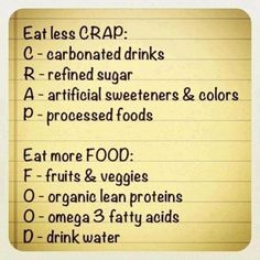 Sums it up! Why are the foods I don't care for on the good food list? Darn.
