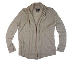 3243e9c56c3c7 New SUTTON STUDIO Size M 100% Cashmere Oatmeal Beige Open Front Cardigan  Sweater  SuttonStudio