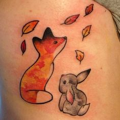 fox and rabbit tattoo http://instagram.com/p/rfFfCAziPX/?modal=true