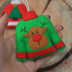 Artículos similares a Christmas ornament Ugly sweater ornament stocking stuffer christmas decoration Tree decoration felt ornament christmas gift Hanging ornament en Etsy Christmas Party Themes, Felt Christmas Decorations, Crochet Christmas Ornaments, Felt Christmas Ornaments, Christmas Sewing, Christmas Projects, Holiday Crafts, Christmas Sweaters, Hanging Ornaments