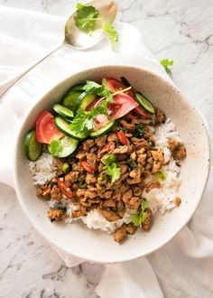 A super tasty, easy Thai stir fry with a nice kick of heat! The Thai stir fry sauce used in this recipe is like an all purpose Thai sauce. It's a versatile base and it's... Read More »
