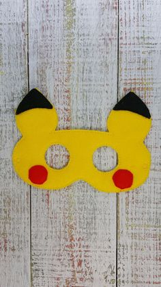 """Felt masks that fit toddler to child...and some adults Elastic is 12"""" laying…"""