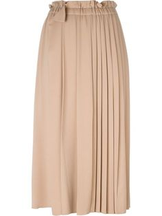 Shop Nº21 long pleated skirt in La Casa Moda from the world's best independent boutiques at farfetch.com.