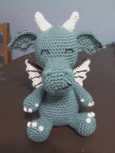 cutest crochet dragon ever!