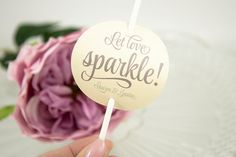 Sparkler Tag in mauve and nude by PennyAnnDesigns on Etsy