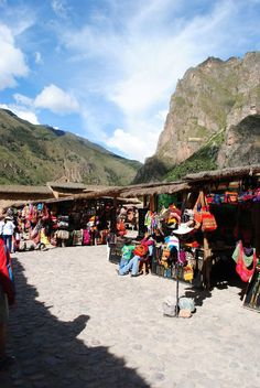 The markets at  Ollantaytambo, Peru.