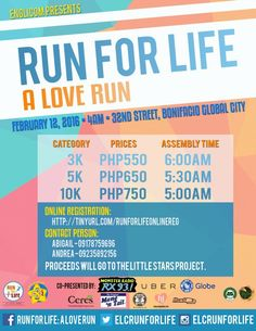 Run for Life a Love Run Health Junkie poster 1