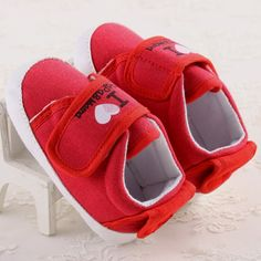 Red Lace Up Baby Sneakers Shoes #baby #babyshoes #babycribs #babytibet Do you like? #babytibet