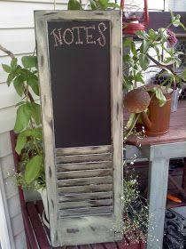 The Cottage Market: 25 Repurposed Shutter Ideas Would make a cute memo board and place to stash mail.....