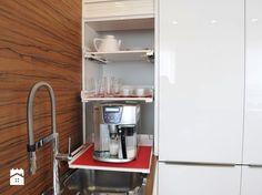 zabudowa meblowa w kuchni z ruchomymi półkami