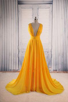 V-Neck Sexy Long Prom Dress Evening Dress SD05 – Simibridaldress