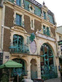 Art Nouveau and Art Deco, Douvres-la-Délivrande, France Architecture Art Nouveau, Stairs Architecture, Victorian Architecture, Sustainable Architecture, Beautiful Architecture, Architecture Design, Architecture Student, Art Deco, Art Nouveau Design