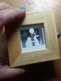 'Friends'-  Miniature original papercut.