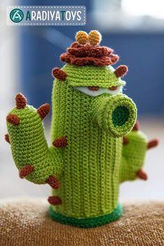 Cactus (plants vs zombies) amigurumi crochet pattern by AradiyaToys
