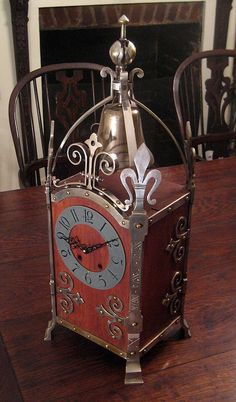Antique French Fleur De Lis Mantle Clock, Circa 1910