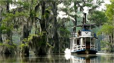 The steamboat Graceful Ghost begins one of its daily tours on Caddo Lake near Uncertain, Tex