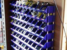 単品1個 工具収納整理コンテナボックスパーツボックス 整理棚 幅115×奥行198×高さ95mm 縦横連結可能青