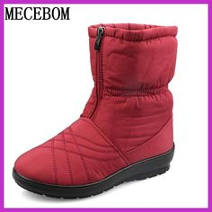 Plus Size Waterproof Flexible Woman Boots High Quality Warm Fur Inside Snow Boots Winter Shoes Woman calzado mujer 1508W