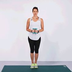 This exercise not only tones up your arms, but also gets your heart rate up and works your abs.