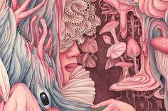 #INSPIRACIÓN con #pintura y #surrealismo. Arte, detalles, fantasía y dibujo increíble con Alice Lin Más en: http://www.colectivobicicleta.com/2017/10/pintura-alice-lin.html