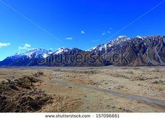Tasman Valley on Blue Sky, Southland, New Zealand