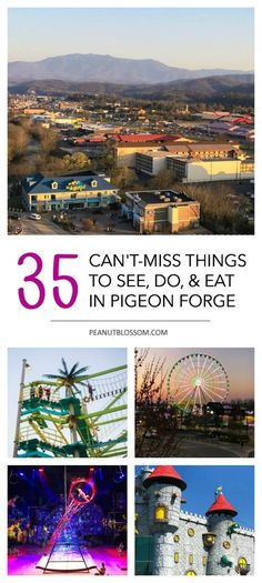 35 can't-miss things to see, do, & eat in Pigeon Forge {VIDEO} 35 Pigeon Forge Tennessee things to do in town. The best places to eat with kids, attractions to see, and activities for families. Plan a fun family vacation in Pigeon Forge! Best Family Vacations, Mountain Vacations, Family Vacation Destinations, Family Travel, Travel Destinations, Vacation Ideas, Fun Vacations For Kids, Vacation Quotes, Romantic Destinations