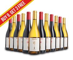 Sundae Wines™ 2014 Pinot Noir | 2015 Chardonnay Mixed Case of 12 Bottles  100 Profit Points Paid Back To You!