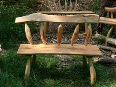 Driftwood Furniture, Driftwood Projects, Log Furniture, Handmade Furniture, Furniture Projects, Furniture Making, Rustic Bench, Rustic Decor, Wood Benches
