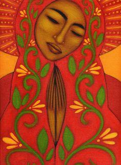 Print * Mexican Folk Art Icon Madonna By Tamara Adams | eBay