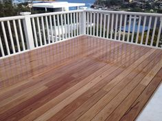 Stunning blackbutt timber decking concealed screws Front Porch Deck, Back Deck, Timber Deck, Dream House Exterior, Backyard, Patio, Decks And Porches, Pool Designs, House Colors