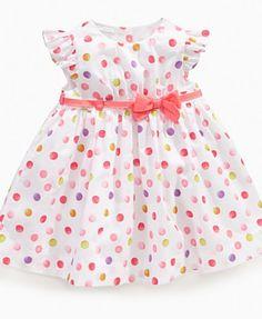 First Impressions Baby Dress, Baby Girls Multi Dot Dress - Kids Baby Girl (0-24 months) - Macy's
