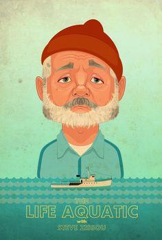 The Life Aquatic by ~jamesgilleard - adobe illustrator poster
