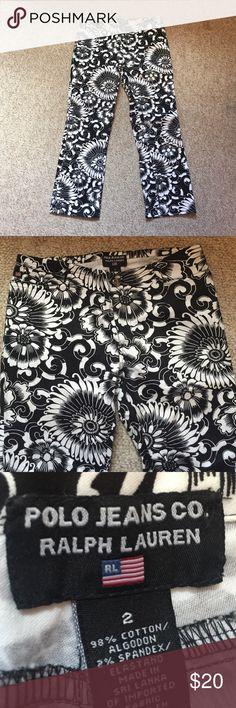 Ralph Lauren capris Never worn black and white patterned Ralph Lauren Capris Ralph Lauren Pants Capris