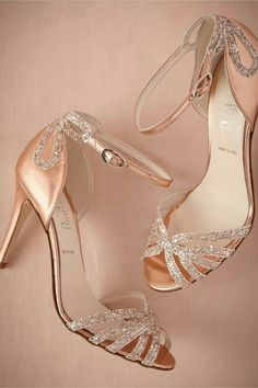 825c2f6ac816 BHLDN Rose Gold Glittered Heels for a little sparkle on your big day!