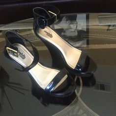 Charlotte Russe black heels. Only wore one time! Black heels! Strap around the ankle! Perfect condition Charlotte Russe Shoes Heels