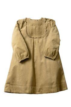 Corduroy Ruffle Bib Dress
