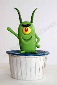 SpongeBob - Plankton cupcake