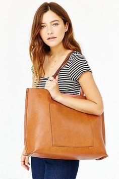 Urban Outfitters Reversible Vegan Leather Tote Bag