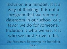 #Inclusion is a mindset. Nothing goes to waste. Removing the Stumbling Block