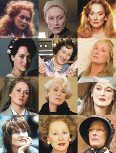 The Many Faces of Meryl Streep Considered to be the best actresses of all time Divas, Grace Gummer, Denis Villeneuve, Sophie's Choice, Beautiful People, Beautiful Women, Idole, Cinema, Iconic Movies
