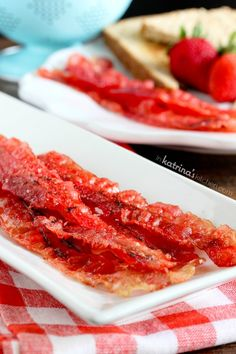 Strawberry Candied Bacon Recipe with strawberry jam