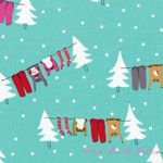 Aneela Hoey Cherry Christmas Washing Line Peppermint [MODA-18530-15] - $10.45 : Pink Chalk Fabrics is your online source for modern quilting cottons and sewing patterns., Cloth, Pattern + Tool for Modern Sewists