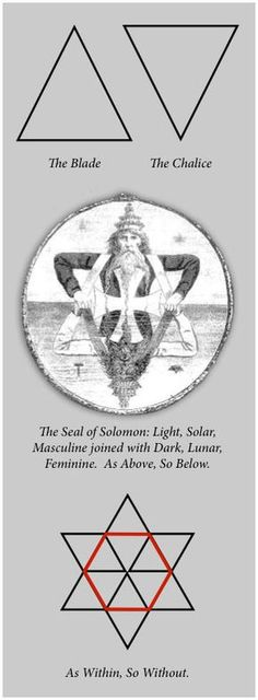 Solomon's Seal, the blade and chalice, as within so without...