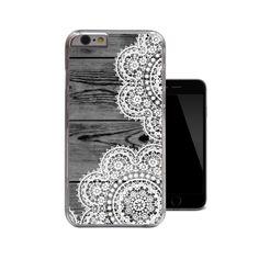 Dark Wood White Lace iPhone 6 Case iPhone 5 5s by 38kVinylGraphics