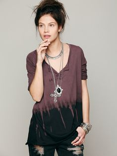 Free People We The Free Mad Hatter 3/4 Tee