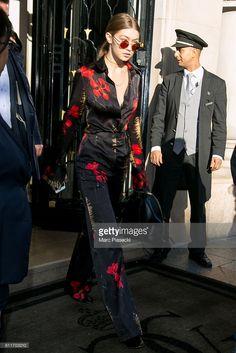 Model Gigi Hadid is seen on October 1, 2016 in Paris, France.