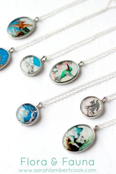 Totem Animal pendant necklaces. Which one speaks to you? ... http://www.sarahlambertcook.com/collections/flora-fauna