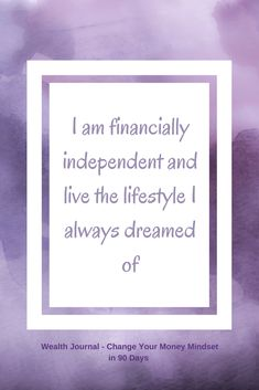 #39 Daily wealth affirmation to help you improve your money mindset so that you can manifest the wealth and abundance that you deserve. Use the affirmation chosen and see what it brings up for you, then work on eliminating any limiting beliefs. Taken from the Wealth which is available to purchase as a printed journal or digital download on Etsy. The printed version is available to purchase on lulu publishing and Amazon.