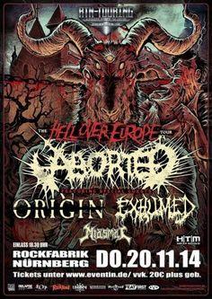 New-Metal-Media der Blog: Verlosung - Aborted in der Rockfabrik in Nürnberg #news #event #nürnberg